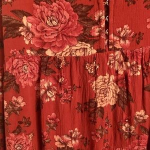 American Eagle Outfitters Tops - Red Floral Tank Top